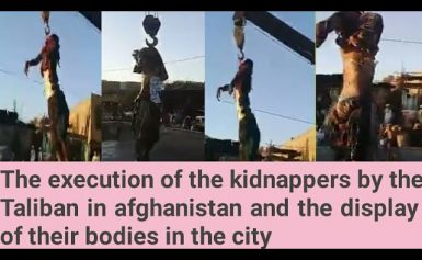 Execution of kidnappers by the Taliban in herat afghanistan